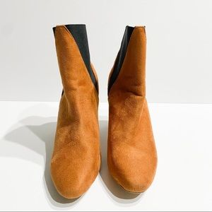 Cape robbin tan and black suede booties size 10
